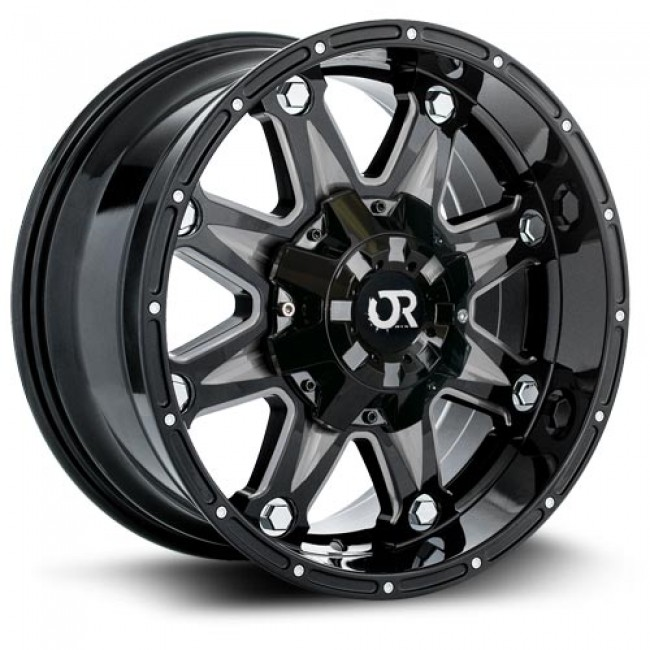roue RTX Wheels Spine, noir machine