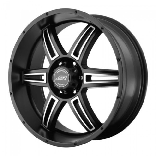 Roue American Racing AR890, noir machine