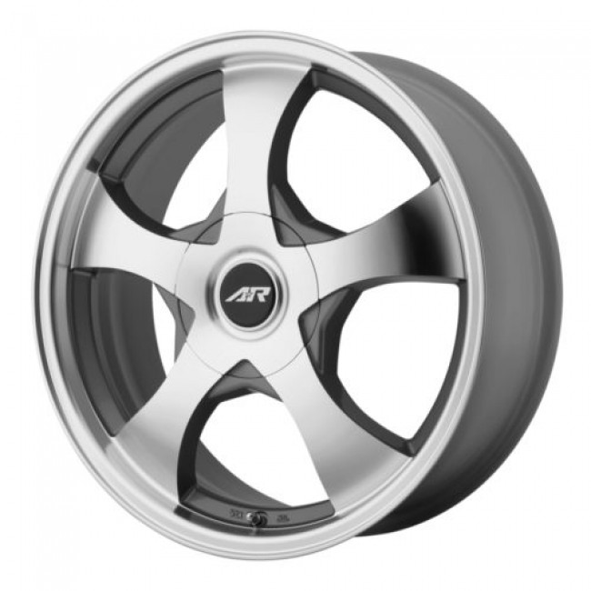 Roue American Racing AR895, argent fonce machine