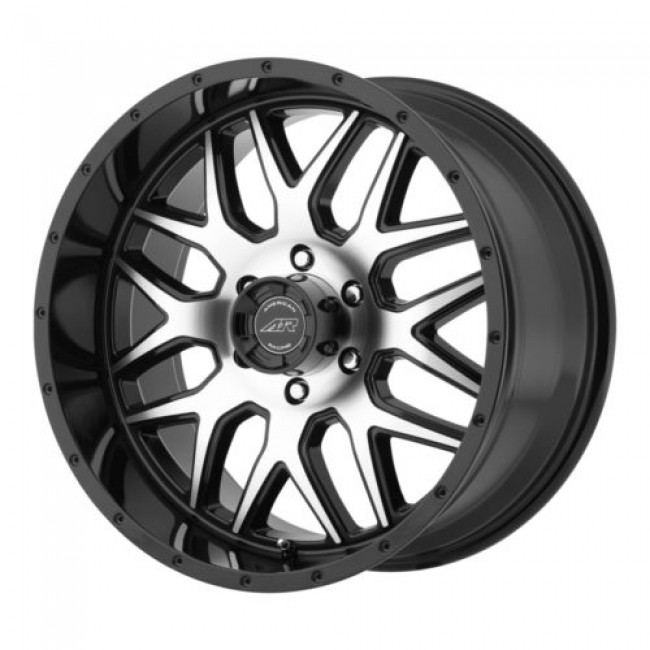 Roue American Racing AR910, noir lustre machine