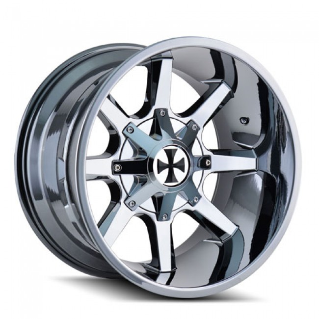 Calioffroad 9100 Busted PVD Chrome / Chrome Vaporise, 20X9, 8x165.1/170 ,(déport/offset 18 ) 130.8