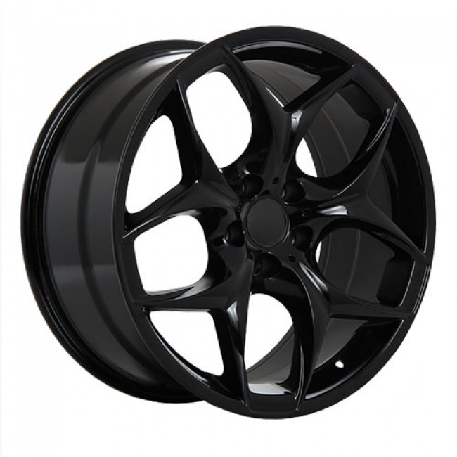 Dai Alloys Replica 19, Noir lustré/Gloss Black, 20X9.5, 5x120 (offset/deport 40), 74.1