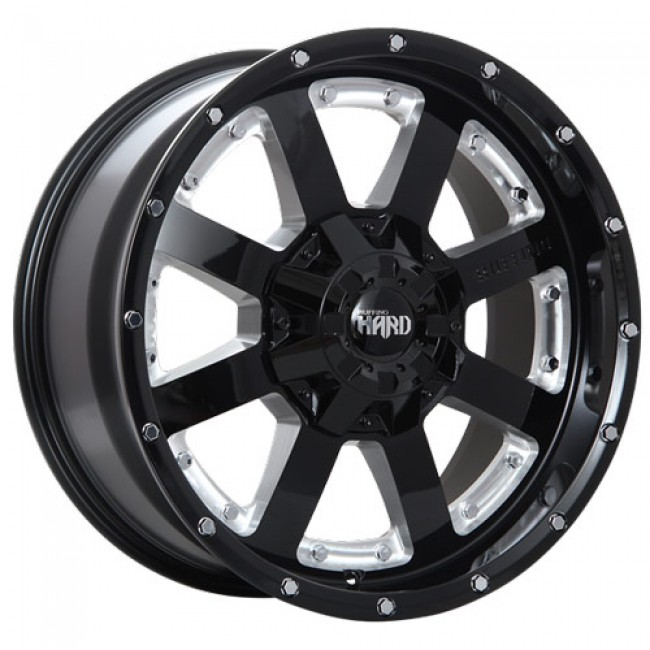 Ruffino Wheels Gear-HD Gloss Black - Milled Window/Noir lustré - Fenêtre usinée, 20X9.0, 6x135/139.7 ,(déport/offset15 )87.1