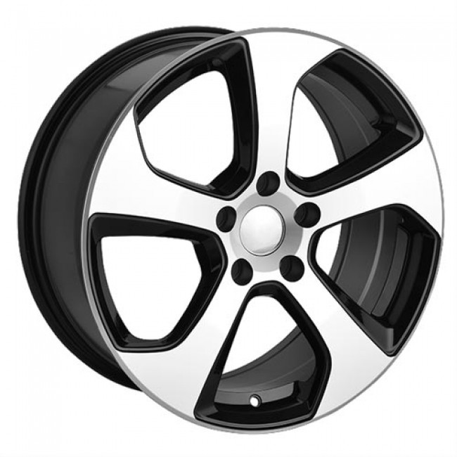 roue Art Replica Wheels Replica 39, noir lustre machine