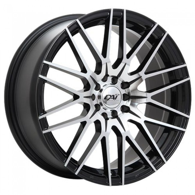 Dai Alloys Rebel Gloss Black - Machined Face/Noir lustré - Façade machinée, 18X8.0, 5x108 ,(déport/offset45 )63.4