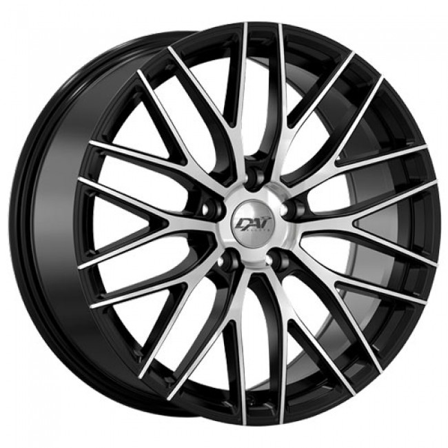 roue Dai Alloys Rennsport, noir lustre machine