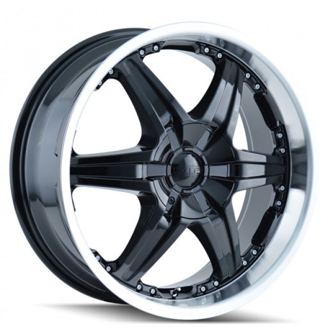 Dip D39 Wicked Black Machine Lip / Noir Rebord Machiné, 22X9.5, 5x115/139.7 ,(déport/offset 18 ) 87