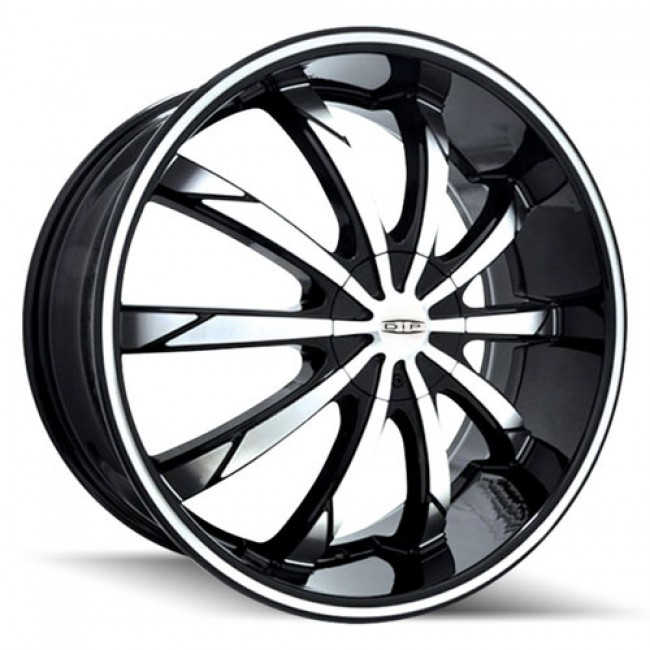 Dip D66 Slack Machiné Black / Noir Machiné, 22X8, 5x108/114.3 ,(déport/offset 35 ) 72.62