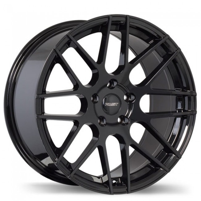 Fastwheels Rennen Gloss Black/Noir lustré , 17X7.5, 5x112, (offset/déport 45 ) 66.6