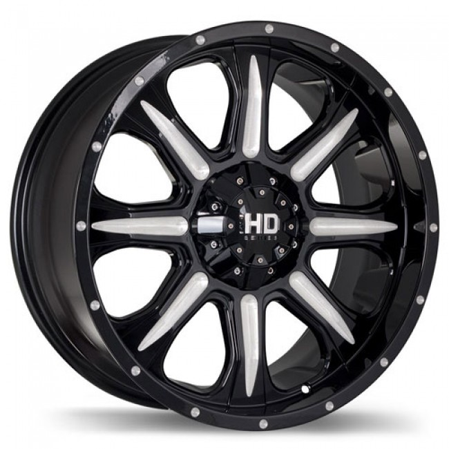 roue Fast Wheels C4, noir lustre machine
