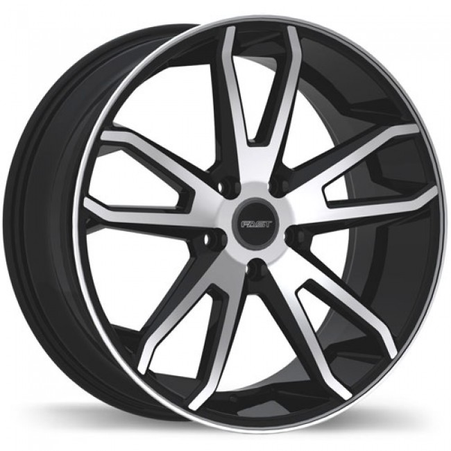 roue Fast Wheels Falcon, noir lustre machine