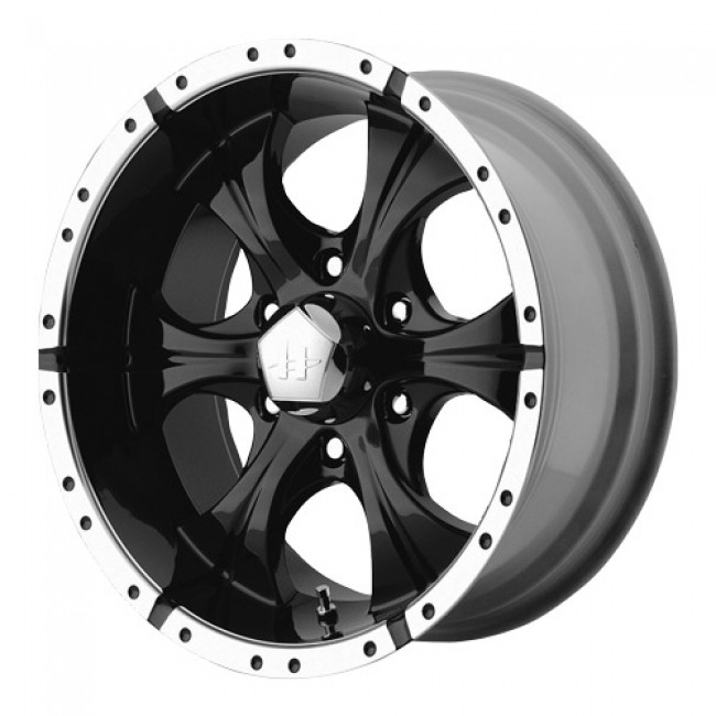 roue Helo Wheels Maxx, noir lustre machine