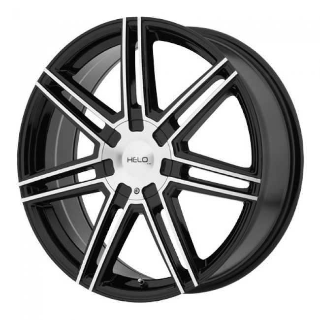 roue Helo Wheels HE884, noir lustre machine