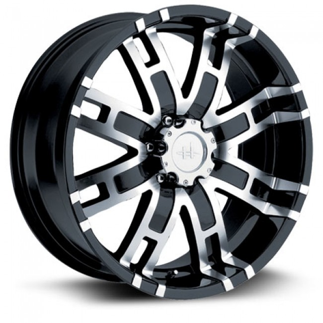 roue Helo Wheels HE835, noir machine