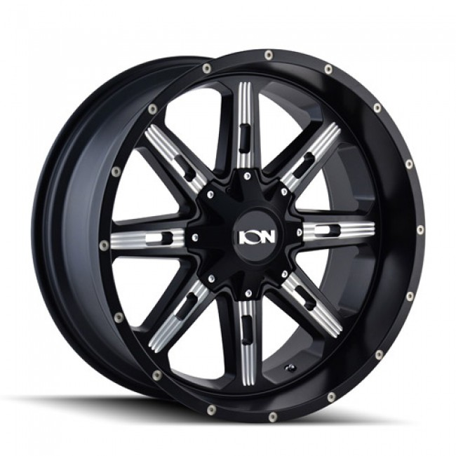 Ion 184 Satin Black / Noir Satine, 17X9, 5x114.3/127 ,(déport/offset -12 ) 87