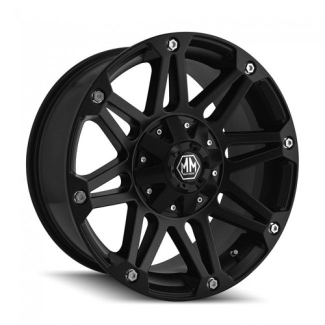 Mayhem 8010 Riot Matte Black / Noir Mat, 18X9, 5x114.3/127 ,(déport/offset -12 ) 78.3