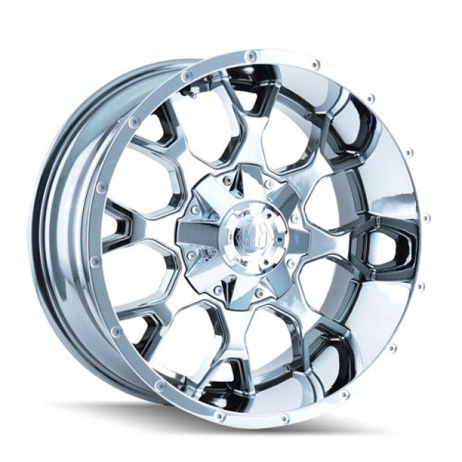 Mayhem 8015 Warrior PVD Chrome / Chrome Vaporise, 22X12, 8x180 ,(déport/offset -44 ) 124.1
