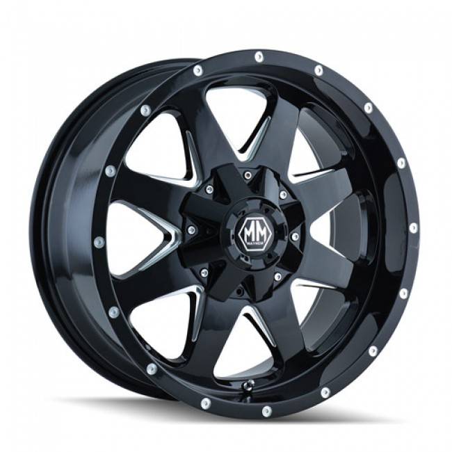 Mayhem 8040 Tank Black Machine / Noir Machiné, 17X9, 5x127/139.7 ,(déport/offset -12 ) 87