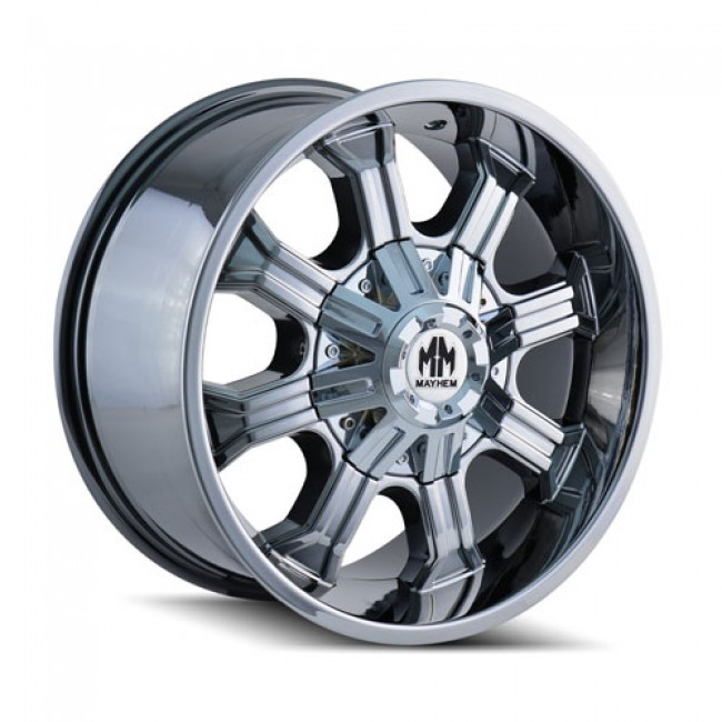 Mayhem 8102 Beast PVD Chrome / Chrome Vaporise, 20X9, 8x165.1/170 ,(déport/offset -12 ) 130.8