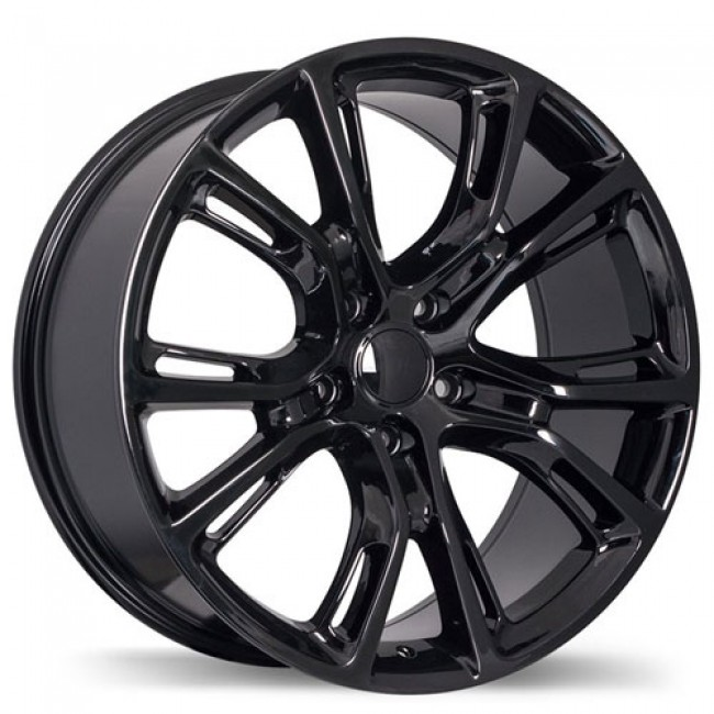 Replika Wheels R148B Gloss Black/Noir lustré , 20X9.0, 5x127, (offset/déport 34 ) 71.5 Jeep