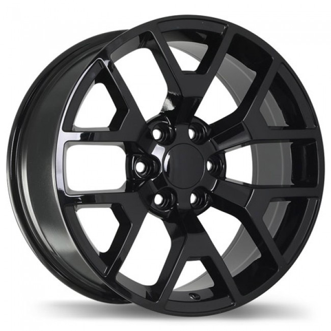 Replika Wheels R162A Gloss Black/Noir lustré , 22X9.0, 6x139.7, (offset/déport 27 ) 78.1 Chevrolet, GMC