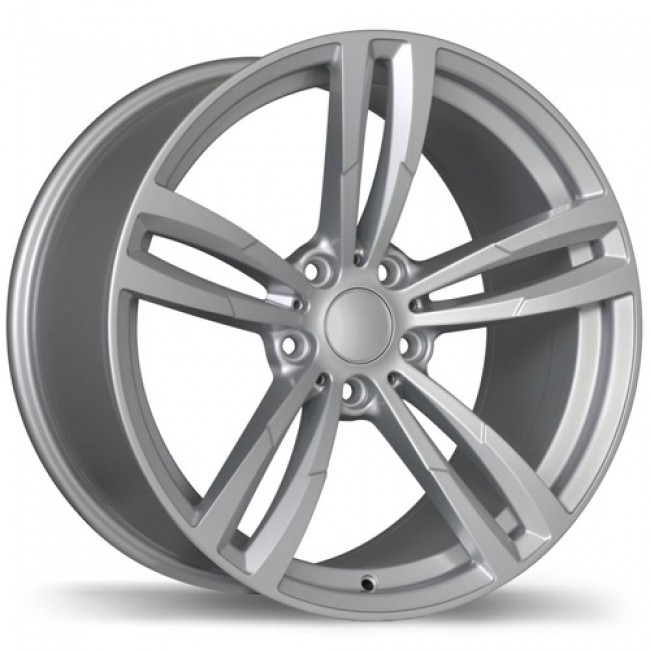 Replika Wheels R163A Gloss Silver/Argent lustré, 19X8.5, 5x112, (offset/déport 25 ) 66.6 BMW