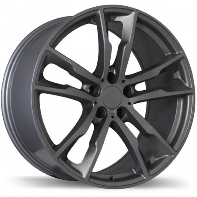 Replika Wheels R184 Gloss Gunmetal/Gunmétal lustré, 20X10.0, 5x120, (offset/déport 40 ) 74.1 BMW