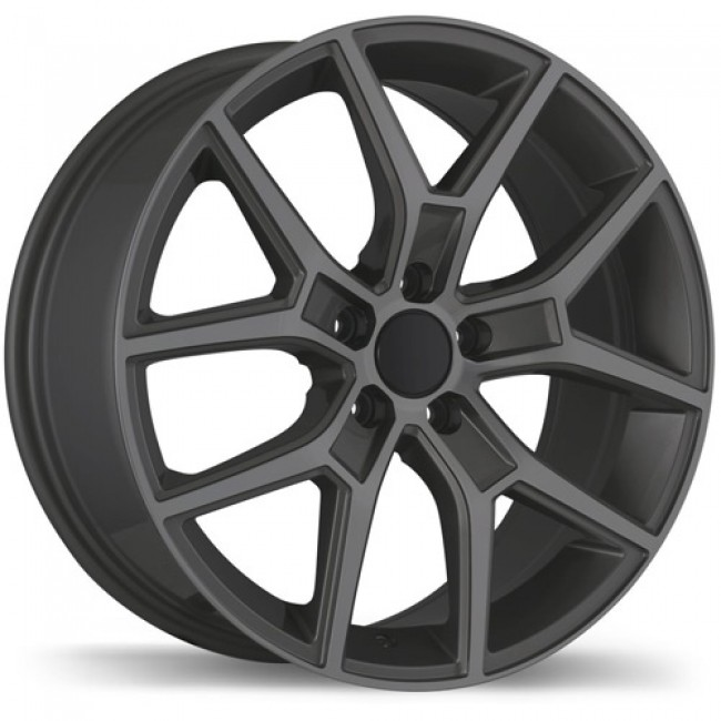 Replika Wheels R185 Gloss Gunmetal/Gunmétal lustré, 18X8.0, 5x108, (offset/déport 50 ) 67.1 Volvo
