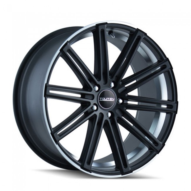 Touren TR40 Matte Black Machine Lip / Noir Mat Rebord Machiné, 20X9.5, 5x120 ,(déport/offset 25 ) 74.1