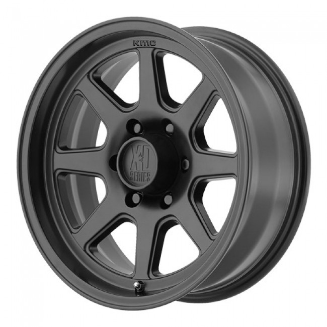 roue KMC Wheels Turbine, noir satine