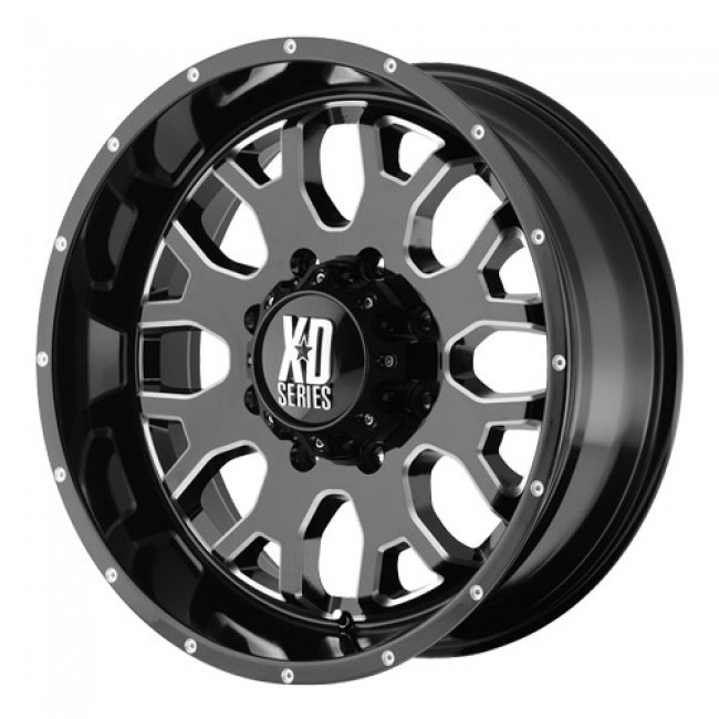 roue KMC Wheels Menace, noir lustre machine
