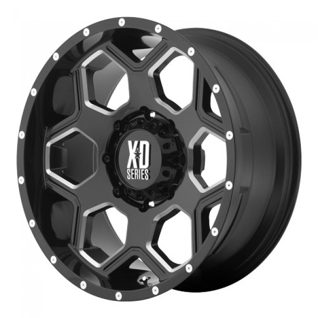 roue KMC Wheels Batallion, noir lustre machine