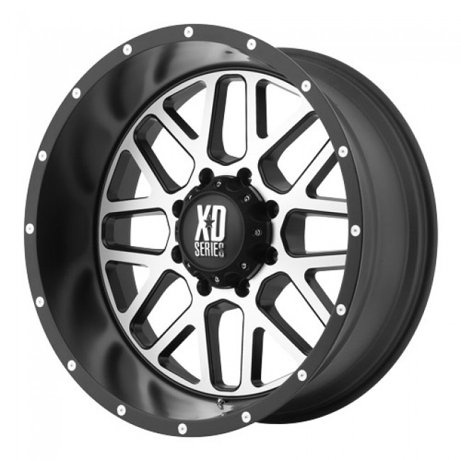 roue KMC Wheels Grenade, noir machine