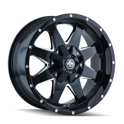 Roue Mayhem TANK, noir machine (20X9, 6x139.7, 108.1, déport -12)
