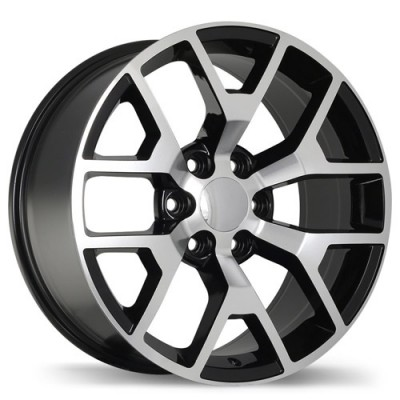 roue Replika Wheels R162, noir machine (20X9, 6x139.7, 78.1, déport 27)