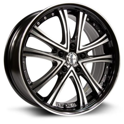 Roue RTX Wheels Allure, noir machine (18X8, 5x114.3, 73.1, déport 45)