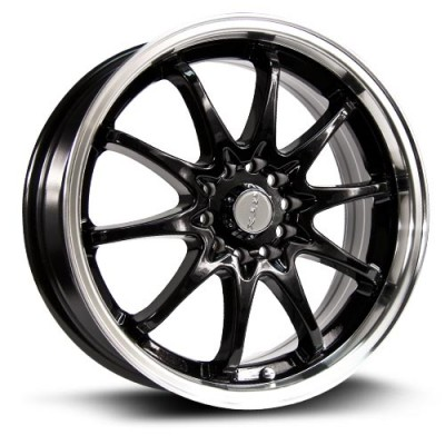 Roue RTX Wheels Appllo, noir machine (17X7, 5x110/114.3, 73.1, déport 40)