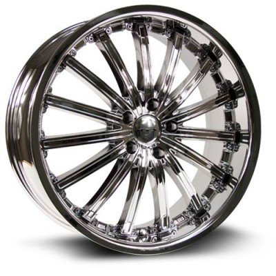 Roue RTX Wheels Elite, chrome plaque (20X8.5, 5x114.3, 73.1, déport 38)