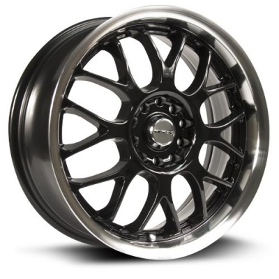 Roue RTX Wheels Euro, noir machine (18X7.5, 5x100/114.3, 73.1, déport 42)