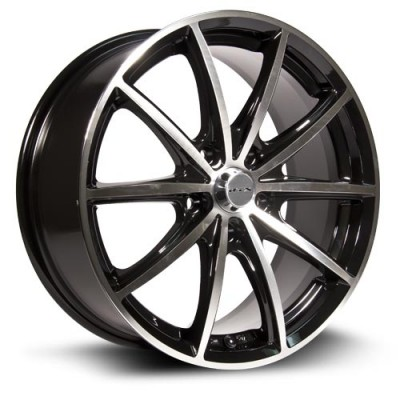 Roue RTX Wheels Forza, noir machine (15X6.5, 5x114.3, 73, déport 45)