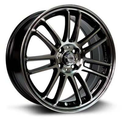 Roue RTX Wheels Radial, noir machine (16X7, 5x114.3, 73.1, déport 45)
