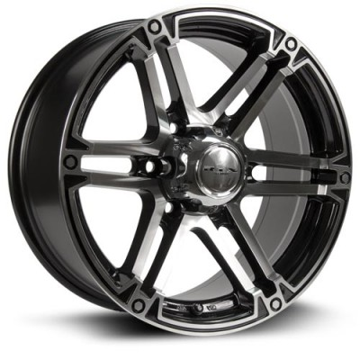 Roue RTX Wheels Slate, noir machine (17X8, 6x139.7, 106.1, déport 25)