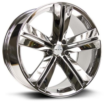 Roue RTX Wheels Sms, chrome plaque (18X7.5, 5x114.3, 73, déport 40)