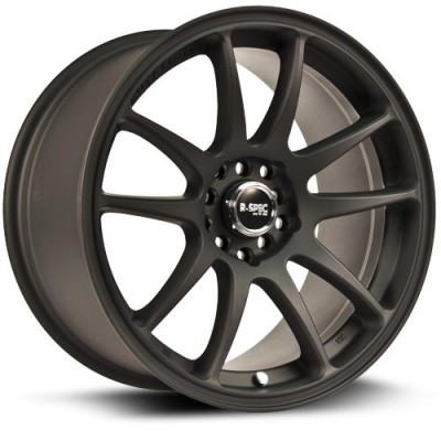Roue RTX Wheels Stag, noir machine (17X9, 5x100/114.3, 73.1, déport 38)