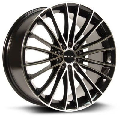 Roue RTX Wheels Turbine, noir machine (17X7.5, 5x100/114.3, 73.1, déport 45)