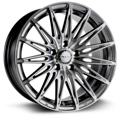 roue RTX Wheels Crystal, noir machine (17X7.5, 5x112, 66.6, déport 40)
