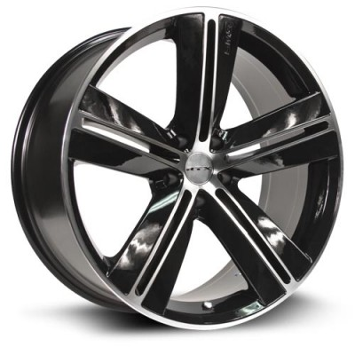 Roue RTX Wheels Sms, noir machine (17X7.5, 5x114.3, 73, déport 40)
