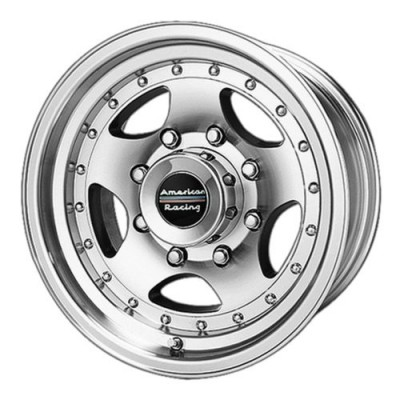 Roue American Racing AR23, noir machine (14X7, 5x114.3, 83.06, déport -6)