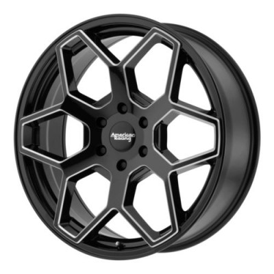 Roue American Racing AR916, noir lustre machine (22X9, 6x135, 87.1, déport 46.2)