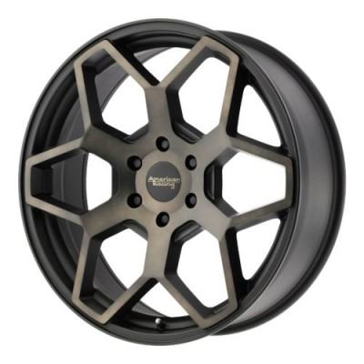 Roue American Racing AR916, noir machine (22X9, 6x135, 87.10, déport 30)
